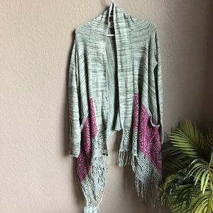 Billabong Fringe cardigan sweater